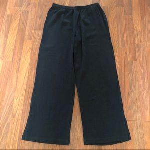 Soft Surroundings Black Gauze Casual Pants M New